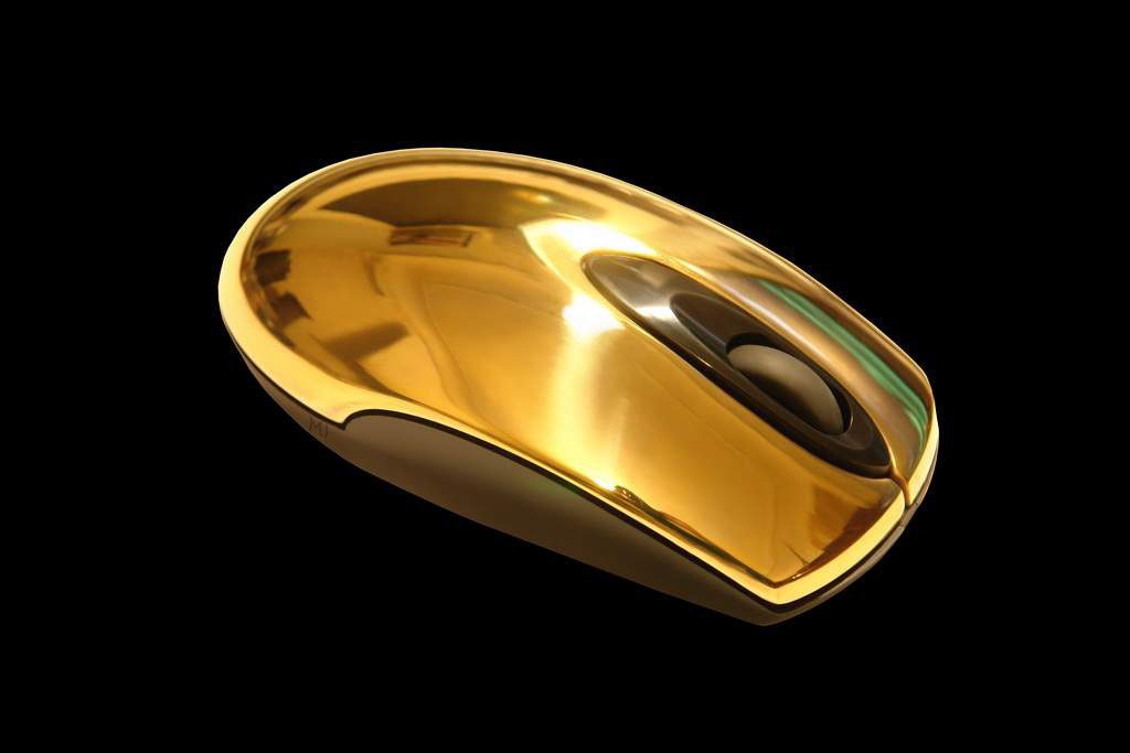 Luxury Golden Mouse MJ Limited Edition - Solid Gold 750 - 18 carat